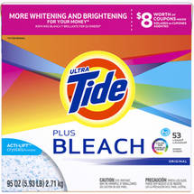 Ultra Tide Plus Bleach Original HE Powder Laundry Detergent