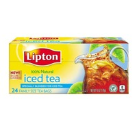 Lipton Unsweetened Family-Sized Black Iced Tea Bags