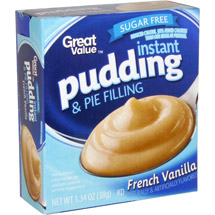 Great Value Sugar Free Reduced Calorie French Vanilla Pudding & Pie Filling