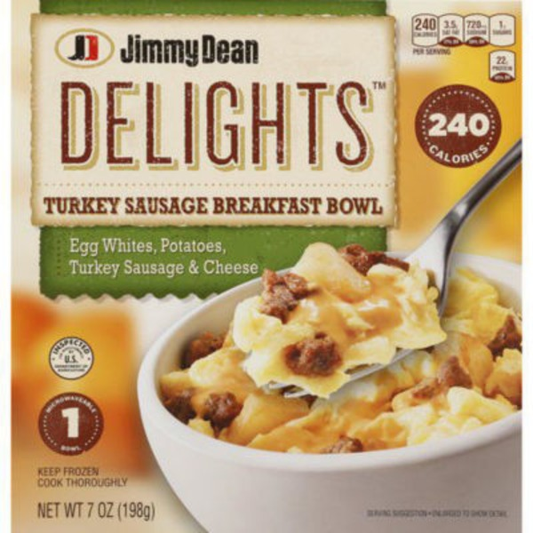 H E B Jimmy Dean Delights Breakfast Bowl Turkey Sausage Delivery