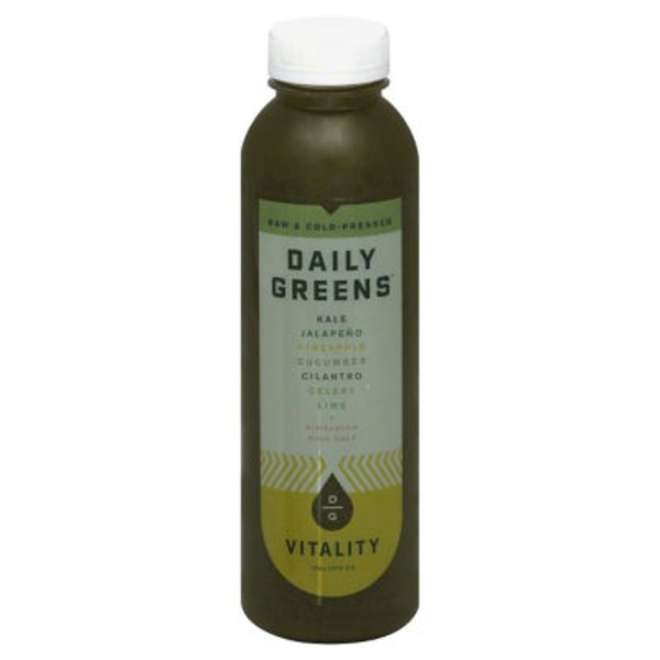 Daily Greens Raw & Cold-Pressed, Vitality Juice