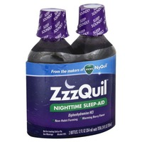 Zzzquil Nighttime Sleep-Aid Liquid Warming Berry Flavor Twin Pack 24 Fl Oz Misc Personal Health Care