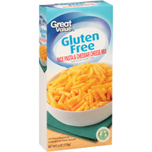 Great Value Gluten Free Rice Pasta & Cheddar Cheese Mix