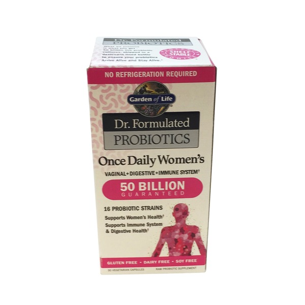 Garden of Life Doctor Formulated Probiotics Once Daily Women's 50 Billion Guaranteed Vegetarian Capsules