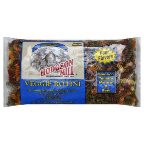 Hodgson Mill Spinach Tomato Natural & Beef Flavored Veggie Rotini