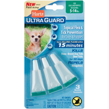 Hartz UltraGuard Flea and Tick Drops for Dogs from 4 to15lbs