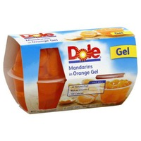 Dole Fruit Bowls in Orange Gel Mandarins