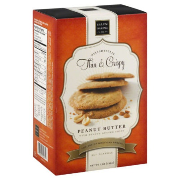 Salem Baking Company Thin & Crispy Peanut Butter Cookies