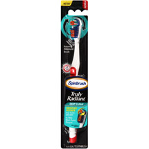Arm & Hammer Spinbrush Truly Radiant Deep Clean Manual Toothbrush Medium