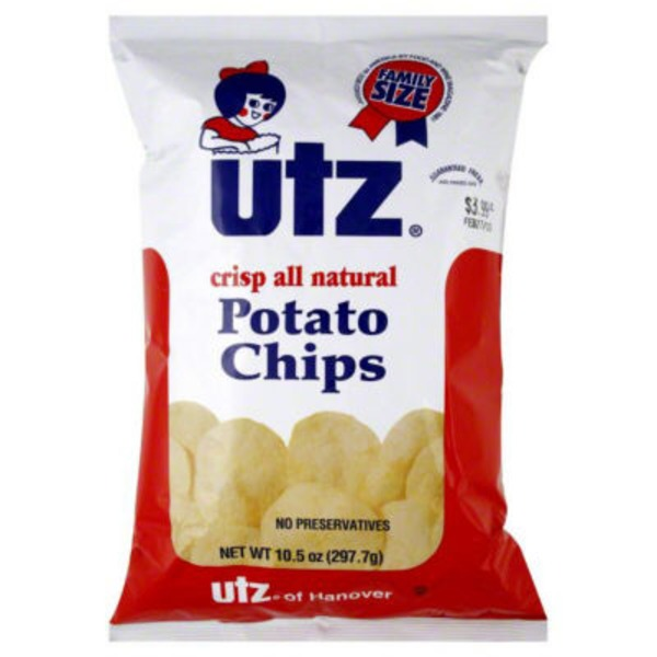 Utz All Natural Potato Chips Family Size