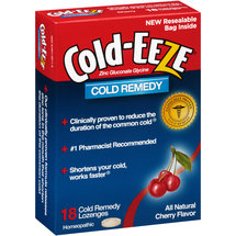 Cold-EEZE Cherry Flavor Cold Remedy Lozenges