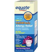 Equate Children's Allergy Relief Grape Flavor Sugar Free Liquid