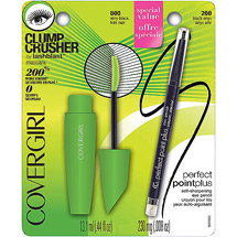 CoverGirl Clump Crusher by Lashblast Mascara & Perfect Point Plus Eyeliner