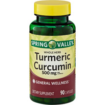 Spring Valley Turmeric Curcumin Herbal Supplement Capsules