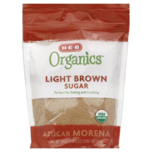 H-E-B Organics. Light Brown Sugar
