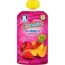 Gerber Graduates Grabbers Apple Mango & Strawberry Squeezable Fruit