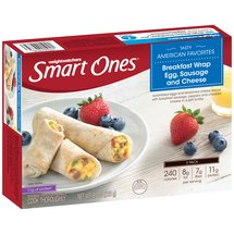 Weight Watchers Smart Ones Smart Beginnings Egg Sausage and Cheese Breakfast Wraps