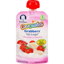 Gerber Graduates Grabbers Strawberry Banana Fruit & Yogurt