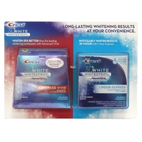 Crest Mixed Crest 3D White Luxe Whitestrips Glamorous White PLUS 1hr Express Teeth Whitening Kit Whitening/Sensitivity