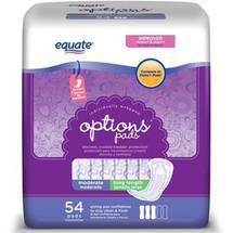 Equate Options Moderate Long Incontinence Pads