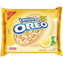 Nabisco Lemon Oreo Sandwich Cookies