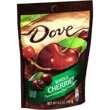 Dove Whole Cherries Dipped in Creamy Dark Chocolate Dried Fruit
