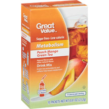 Great Value Metabolism Peach Mango Green Tea Drink Mix