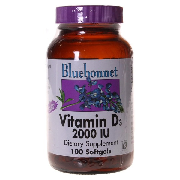 Bluebonnet Nutrition Vitamin D3 2000 Iu
