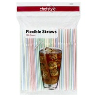 Chef Style Flexible Drinking Straws
