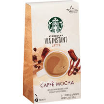 Starbucks VIA Latte Caffe Mocha Specialty Coffee Beverage