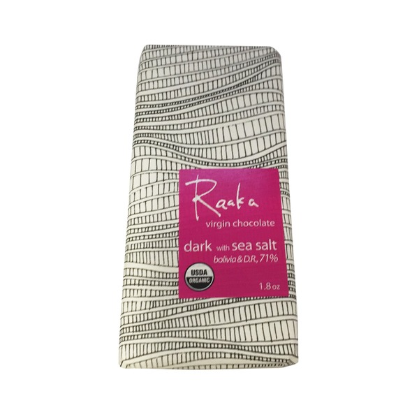 Raaka 71% Virgin Dark Chocolate With Sea Salt Bar