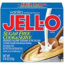 Jell-O Sugar Free Vanilla Cook & Serve Pudding & Pie Filling