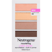Neutrogena Nourishing Long Wear Eye Shadow + Built-In Primer Classic Nude 60