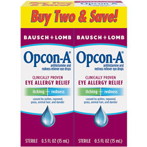 Opcon-A Eye Allergy Relief Itching & Redness Reliever Eye Drops .5 Fl Oz
