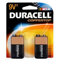 Duracell Coppertop 9V Alkaline Batteries 2 count Primary Major Cells