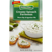 Hidden Valley Warm Creamy Spinach Parmesan Dip & Appetizer Mix