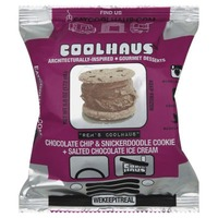 CoolHaus Chocolate And Snicker Doodle Salted Chocolate Ice Cream Sandwich