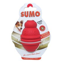 Small Red Rubber Sumo Dog Toy