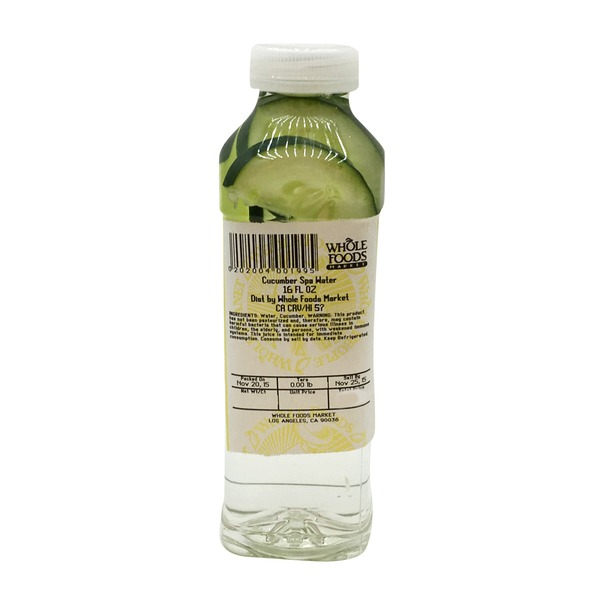 Whole Foods Market Cucumber Spa Water