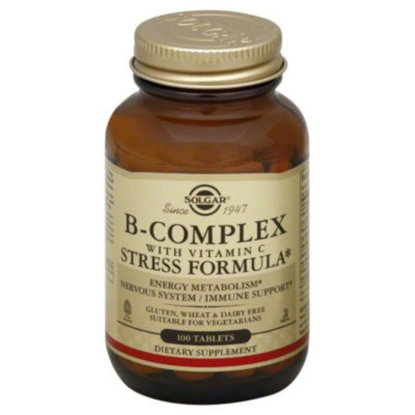 Solgar B Complex With Vitamin C Stress Formula Tablets