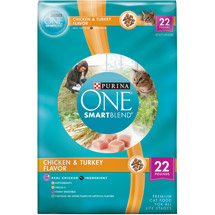 Purina One Cat Dry SmartBlend Adult Chicken and Rice Formula Cat Food