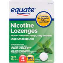 Equate Lozenge 4 Mg Mint Flavor Stop Smoking Aid
