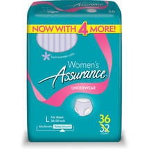 Assurance for Women Maximum Absorbency Protective Underwear Large