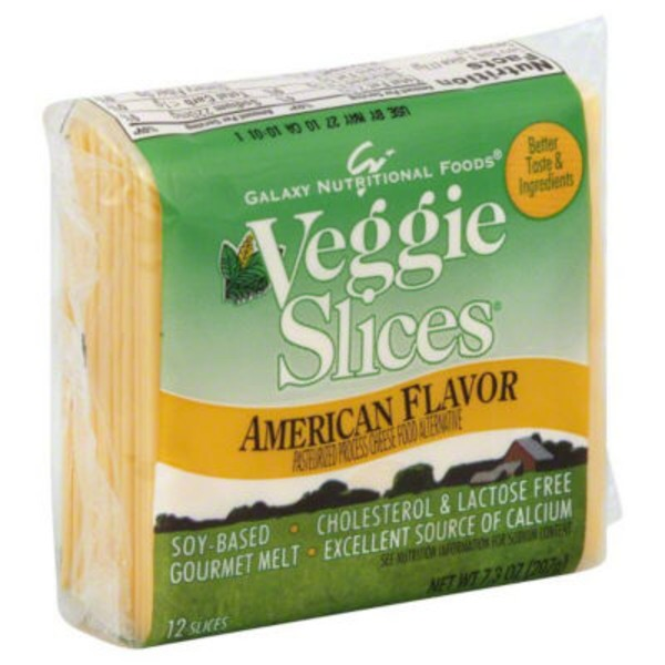 GO Veggie! American Flavor Slices Pasteurized Process Cheese Food Alternative