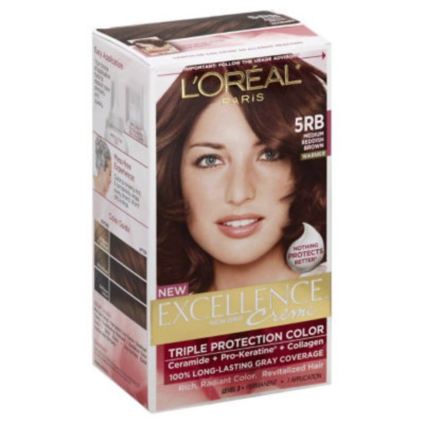 Excellence Creme 5RB Medium Reddish Brown Hair Color