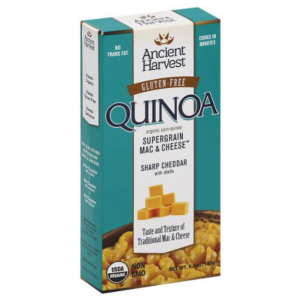 Ancient Harvest Gluten-Free Quinoa Supergrain Mac & Cheese Sharp Cheddar With Shells