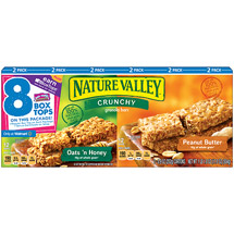 Nature Valley Oats 'n Honey/Peanut Butter Crunchy Granola Bars Variety Pack