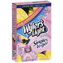 Wyler's Light Singles to Go! Pink Lemonade Drink Mix