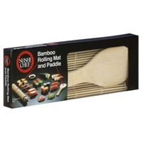 Sushi Chef Baycliff Company Sushi Chef Bamboo Rolling Mat and Paddle