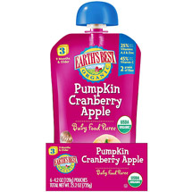 Earth's Best Organic Pumpkin Cranberry Apple Stage 3 Baby Food Puree